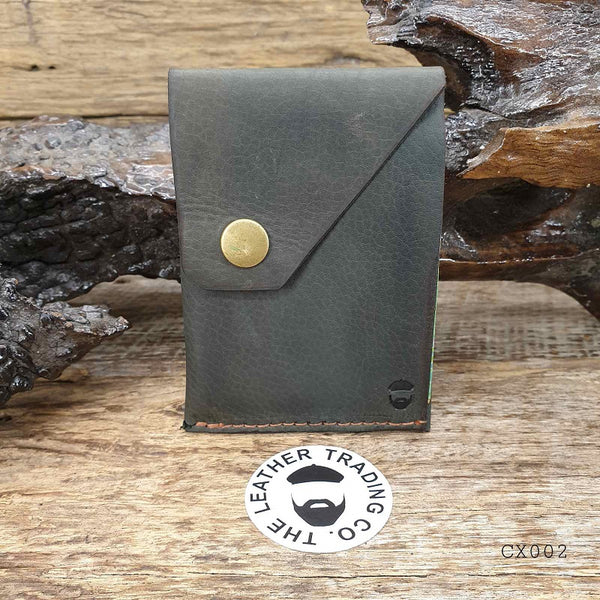 Commander X  - Kangaroo Hide Handmade Minimalist Hybrid Card & Cash Wallet  - CX002 - The Leather Trading Co.