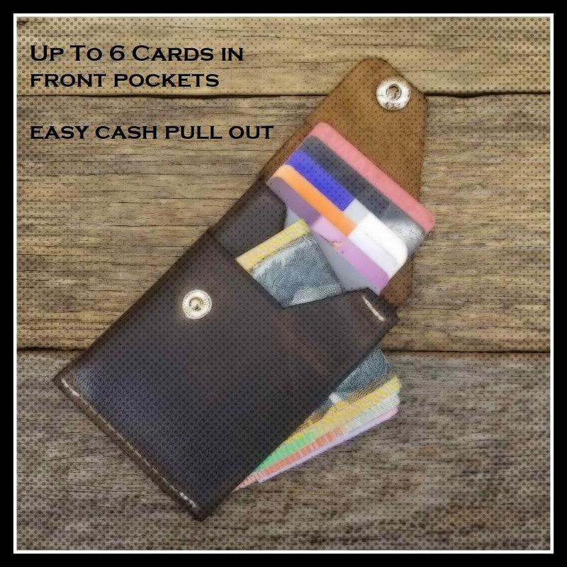 Commander X  - Handmade Minimalist Hybrid Goat Hide Card & Cash Wallet  - CX003 - The Leather Trading Co.