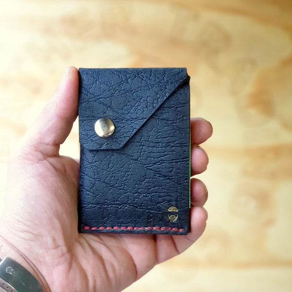 The Commander  X -  Handmade Minimalist Slide Leather Card & Cash Wallet CX1113
