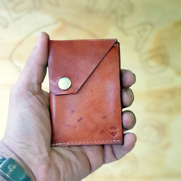 The Commander  X -  Handmade Minimalist Slide Leather Card & Cash Wallet CX1115