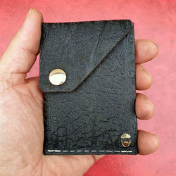 The Commander  X -  Handmade Minimalist Slide Leather Card & Cash Wallet
