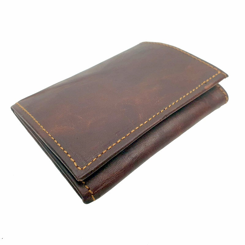 Canyon - Handmade Goat Leather Tri-fold Portrait Wallet - The Leather Trading Co.