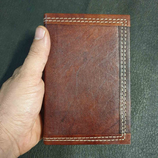 Ares Small Handmade Refillable Lined Leather Travel Journal - The Leather Trading Co.