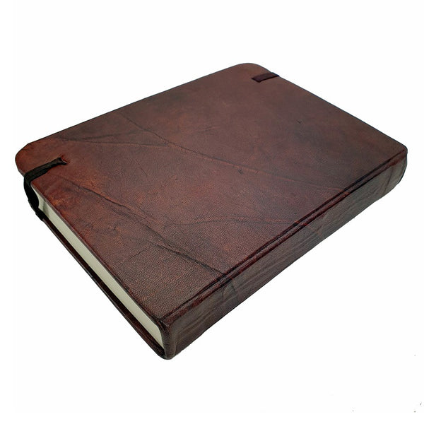 Columbus Large Handmade Leather Travel Journal - The Leather Trading Co.