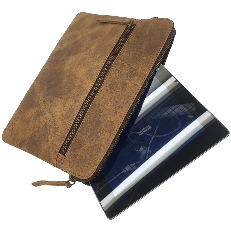 Tigger 11″ Buffalo Leather Ipad Sleeve Zip Case - The Leather Trading Co.