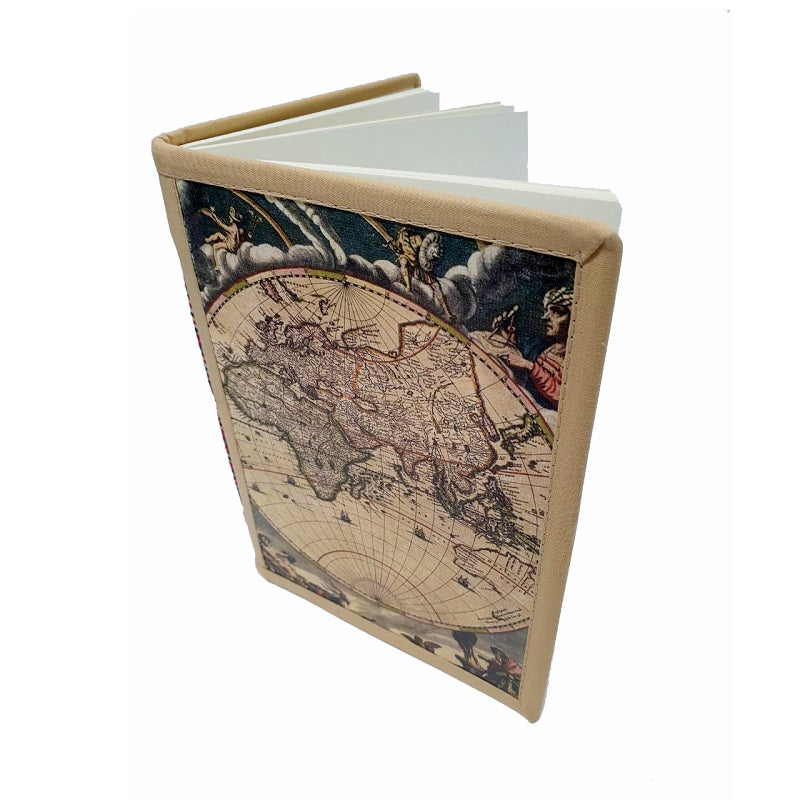 Globe Handmade Travel Journal - The Leather Trading Co.