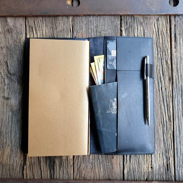 Voyager Leather Passport Travel Journal - The Leather Trading Co.