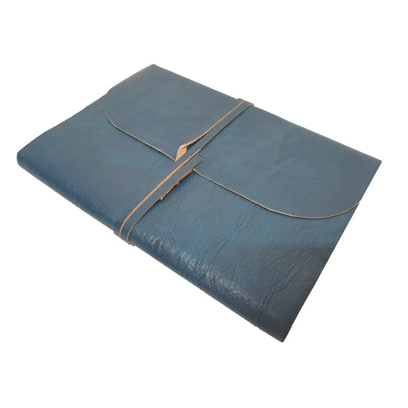 Aqua Crush Leather Journal - The Leather Trading Co.