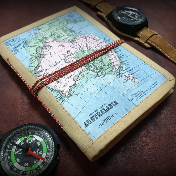 Australia Handmade Travel Journal - The Leather Trading Co.