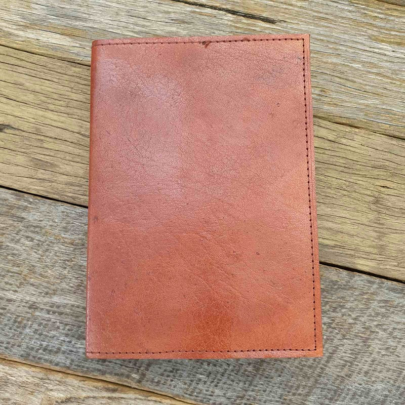 The Saddler MS Handmade Lined Leather Travel Journal - The Leather Trading Co.