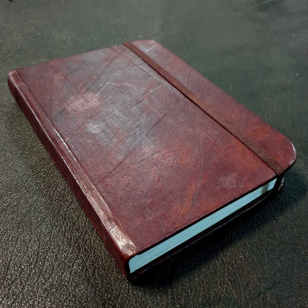 Medium Columbus Handmade Leather Travel Journal - The Leather Trading Co.