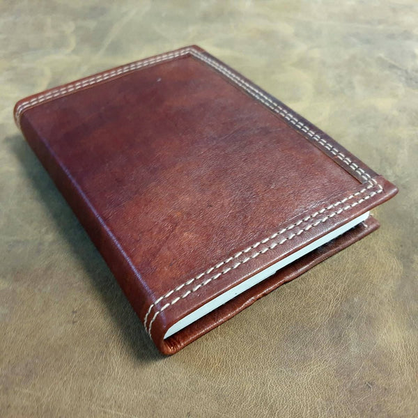 Ares Medium Handmade Refillable Lined Leather Travel Journal