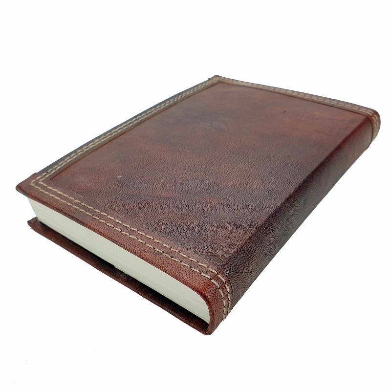 Ares Medium Handmade Refillable Lined Leather Travel Journal - The Leather Trading Co.