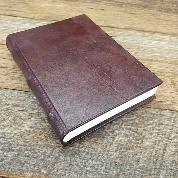 Florentino Medium Handemade Hard Cover Full Grain Leather Lined Notebook Journal - The Leather Trading Co.