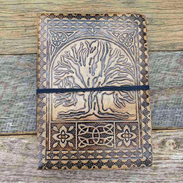 Albero Medium Celtic Tree of Life Journal - The Leather Trading Co.