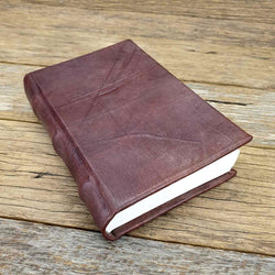 Florentino Small Handemade Hard Cover Full Grain Leather Lined Notebook Journal - The Leather Trading Co.