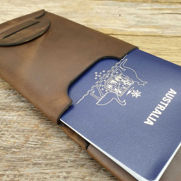 Olympus Leather Passport Wallet - The Leather Trading Co.