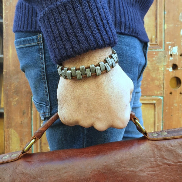 The Alpha Leather Bracelet - The Leather Trading Co.
