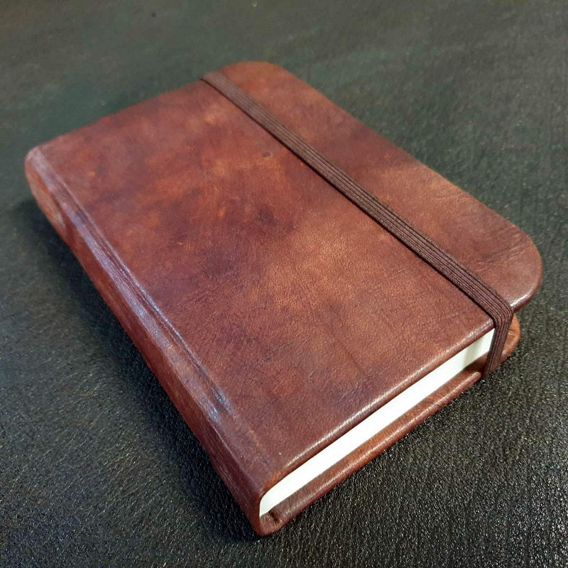 Columbus Small Handmade Leather Travel Journal - The Leather Trading Co.