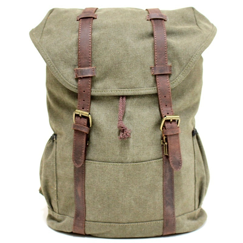 "Terrain 16"" Forrest Buffalo Leather Travel Backpack - The Leather Trading Co."