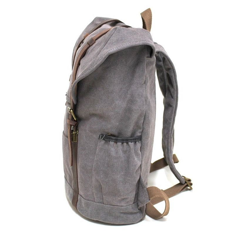 "Terrain 16"" Grey Buffalo Leather Travel Backpack - The Leather Trading Co."