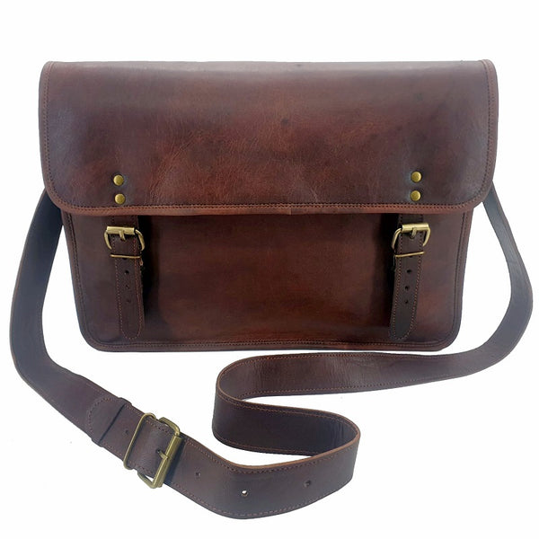 "The Classic 16"" Leather Satchel Work Bag - The Leather Trading Co."