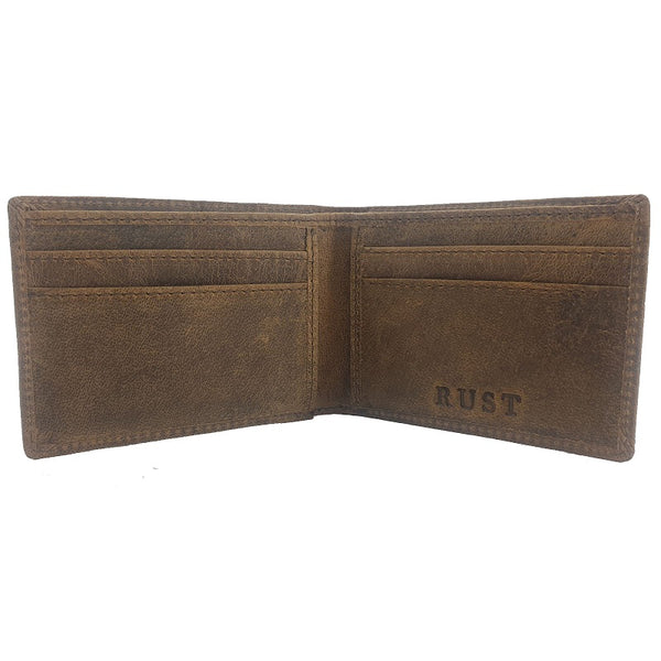 Monedas – Buffalo Bi-Fold Leather Wallet - The Leather Trading Co.