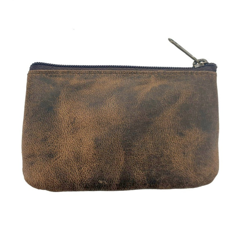 Connery Card, Cash & Cash Zippered Buffalo Hide Pouch Wallet - The Leather Trading Co.