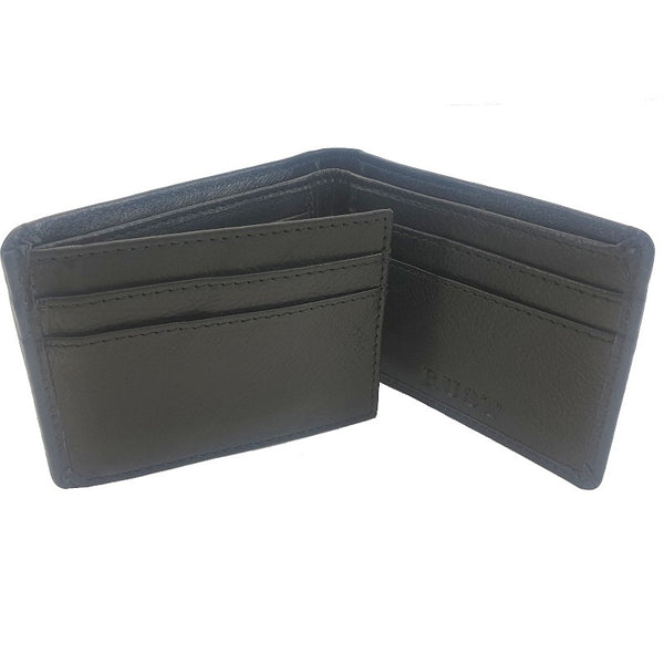 Chief Cow Hide Black Tri-Fold Leather Wallet