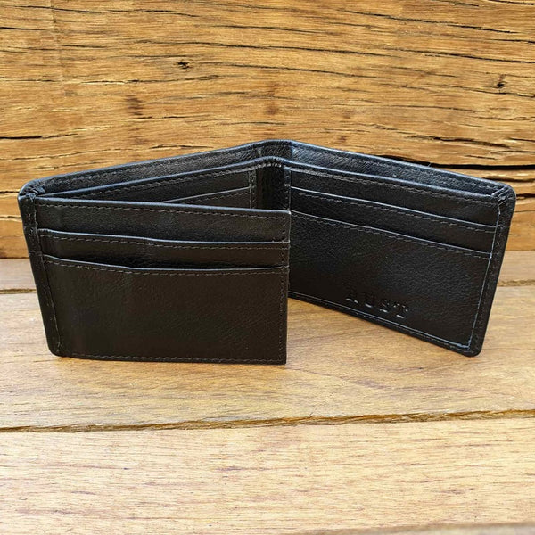 Chief - Cow Hide Black Tri-Fold Leather Wallet - The Leather Trading Co.