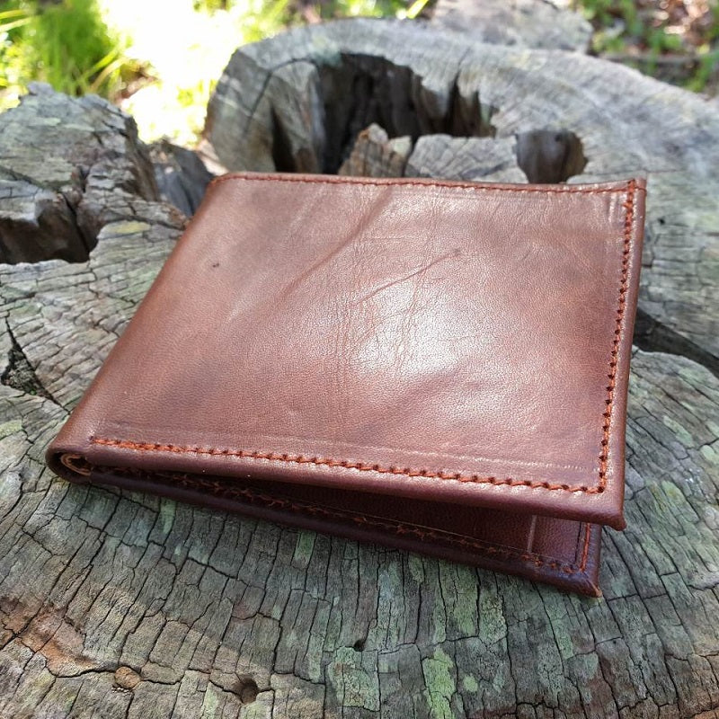 Canyon Handmade Leather Bifold Landscape Wallet