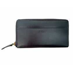 Isabella – Black Cowhide Long Zipper Leather Wallet - The Leather Trading Co.