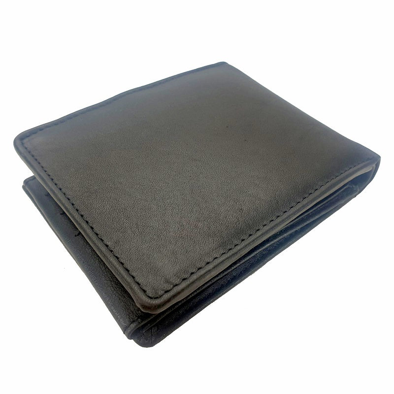 Terroir - Black Cowhide Large 4Fold Button Leather Wallet - The Leather Trading Co.