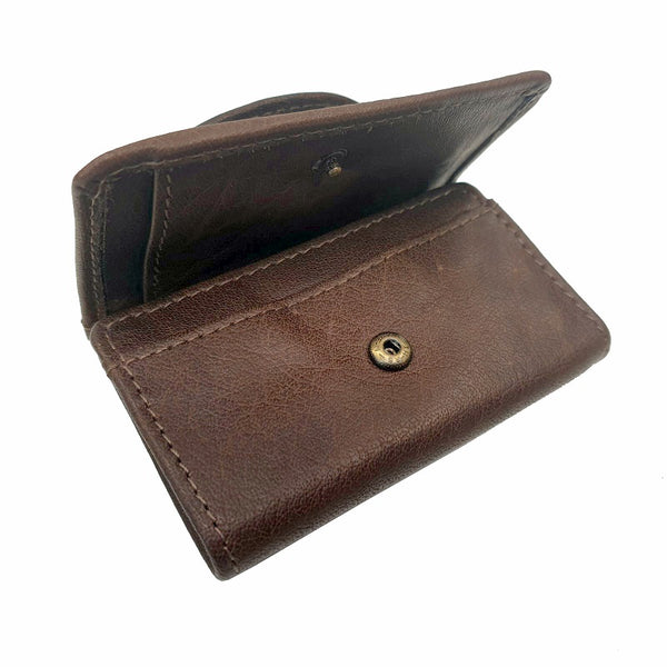 Smart - Brown Calf Leather Mini Travel Wallet - The Leather Trading Co.