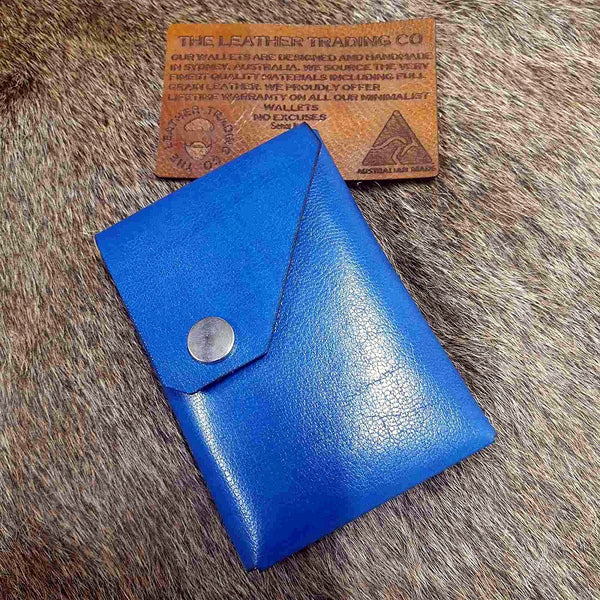 ZEN - Nero - Handmade Minimalist Leather Card, Cash and Coin Wallet - The Leather Trading Co.