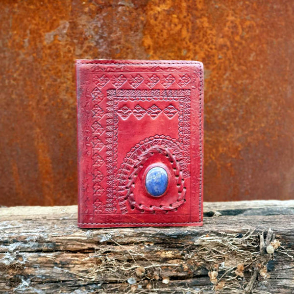Empress Small Hardcover Lapis Lazuli Stone Journal - The Leather Trading Co.