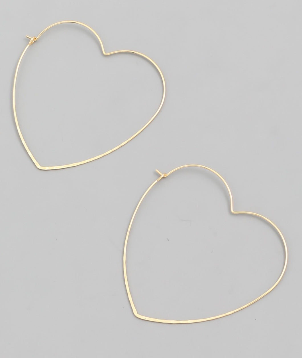 Heart Shape Wire Hoop Earrings