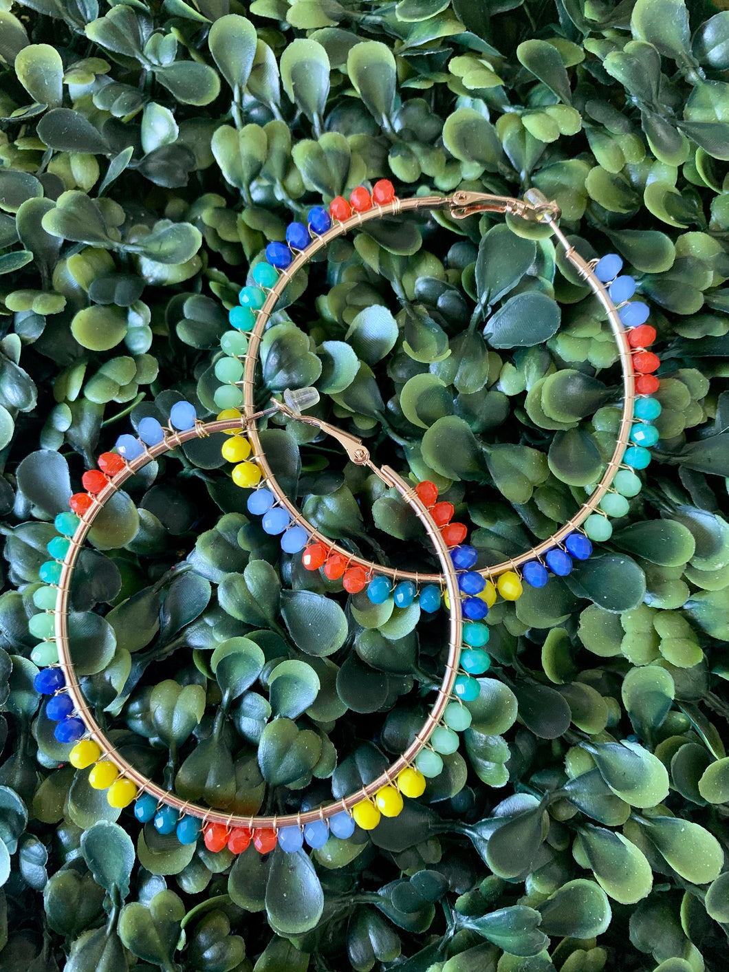 Multicolor Wire Hoops
