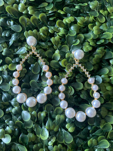 Oval Pearl Earrings