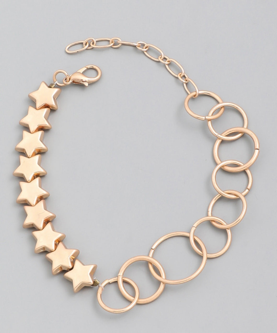 Metallic Star Ring Bracelet