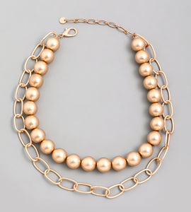Bulky Ball Bead Chain Necklace