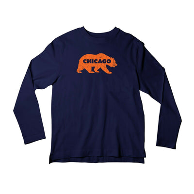 Long Sleeve Bear of Chicago T-Shirt, Football Shirt For Women and Men