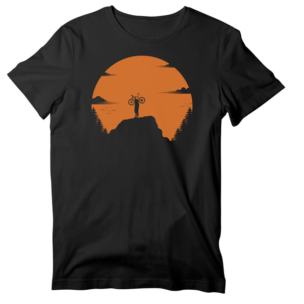 Sunset Mountain Bike Ride Unisex T-shirt