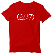 (207) Maine Area Code Unisex T-Shirt