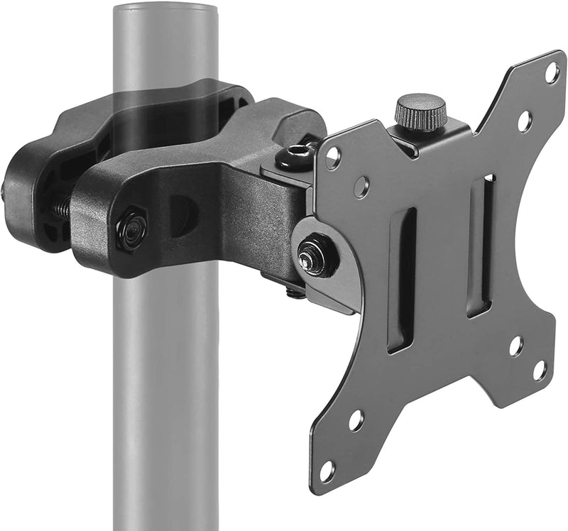 "Low Profile Pole & Pipe Mount (Diameter 1.1""-2.4"") Monitor Mount Bracket - Supports 75mm and 100mm VESA Plate. Fits up to 32 inch Screens…"