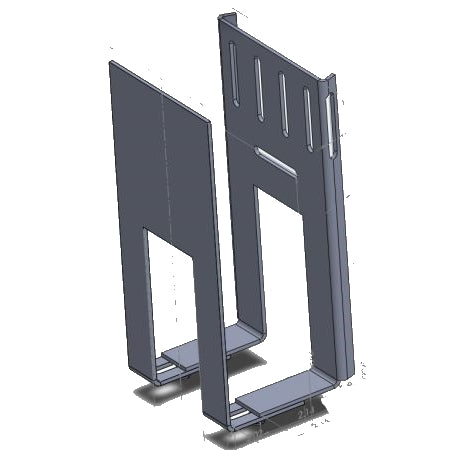 Column or Pillar Strap Mount for Cable Box, Game Console or Any Components