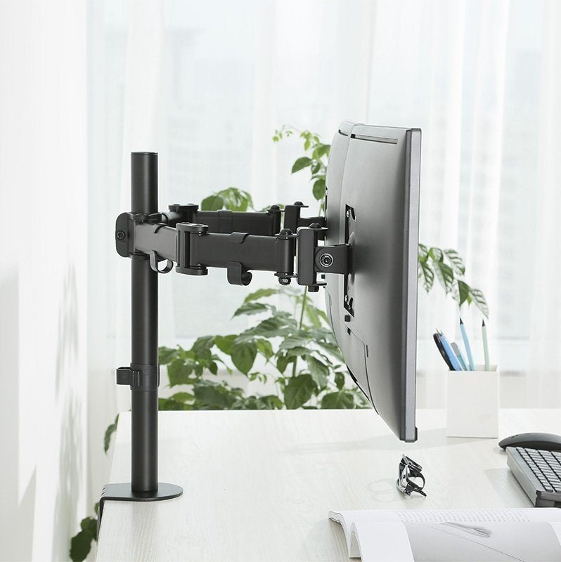 Dual Monitor Mount for Monitors and Screens – Fully Adjustable for 13''-27'' Monitors, Weight Capability up to 17.6lbs for Each arm