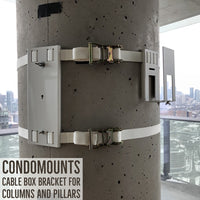 Condomounts Column TV Mount - Pillar TV Mount- Wrap Around Column TV Mount Bracket- No Drilling Required - 4 Inch to 152 inches Diameter