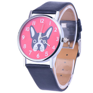 Leather Watch - Puppy Face