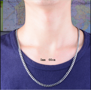 Never Fade 3.6mm/5mm Stainless Steel Cuban Chain Necklace